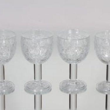 Nuutajärvi Rosita viinilasit, 18 cl, 4 kpl, suunnittelija Kerttu Nurminen, 18 cl