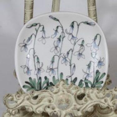 Arabia Botanica koristelautanen, Nuottaruoho, suunnittelija Esteri Tomula, Nuottaruoho, pieni, serikuva
