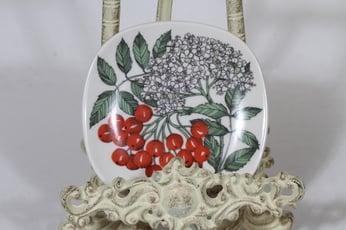 Arabia Botanica koristelautanen, Pihlaja, suunnittelija Esteri Tomula, Pihlaja, pieni, serikuva
