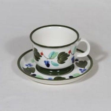 Arabia Palermo kahvikuppi, käsinmaalattu, suunnittelija Dorrit von Fieandt, käsinmaalattu, signeerattu