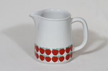 Arabia Pomona kaadin, 1 l, suunnittelija Raija Uosikkinen, 1 l, mansikka, serikuva, retro