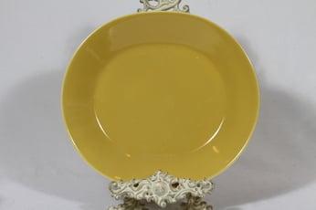 Arabia Aatami vati, keltainen lasite, suunnittelija Birger Kaipiainen, soikea