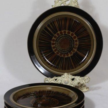 Arabia Kosmos lautaset, matala, 4 kpl, suunnittelija Gunvor Olin-Grönqvist, matala, puhalluskoriste, retro
