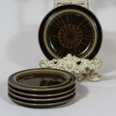 Arabia Kosmos lautaset, 5 kpl, suunnittelija Gunvor Olin-Grönqvist, pieni, puhalluskoriste