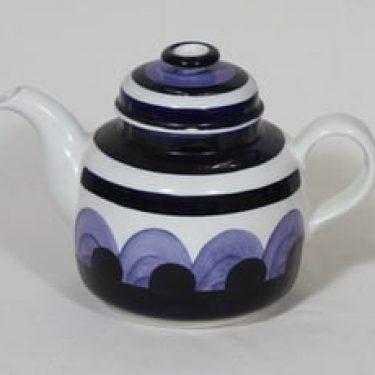 Arabia Paju teekaadin, käsinmaalattu, suunnittelija Anja Jaatinen, käsinmaalattu, signeerattu