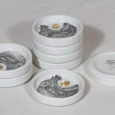 Arabia lautaset, 8 kpl, suunnittelija Gunvor Olin-Grönqvist, pieni, serikuva