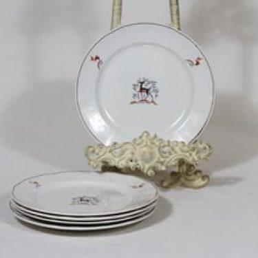Arabia Kauris lautaset, pieni, 4 kpl, suunnittelija Tyra Lungren, pieni, siirtokuva