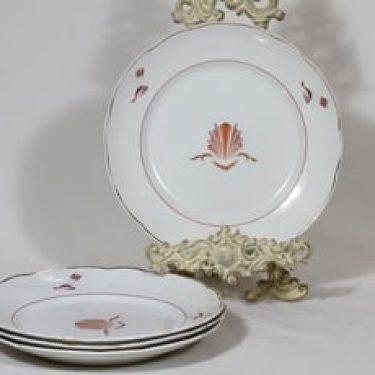 Arabia Näkki lautaset, matala, 4 kpl, suunnittelija Tyra Lungren, matala, siirtokuva, art deco