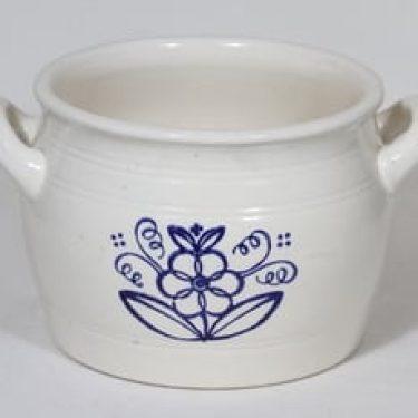 Arabia kukkakuvio ruukku, 4 l, suunnittelija , 4 l, suuri, kobolttimaalaus
