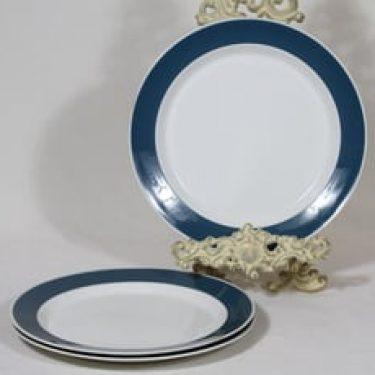 Arabia Palapeli lautaset, 3 kpl, suunnittelija Kaarina Aho, raitakoriste