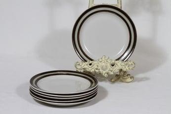 Arabia Karelia lautaset, pieni, 6 kpl, suunnittelija Anja Jaatinen-Winquist, pieni, raitakoriste