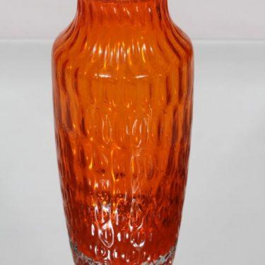 Riihimäen lasi 1433 maljakko, oranssi, suunnittelija Tamara Aladin, retro kuva 2