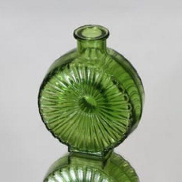 Riihimäen lasi Aurinkopullo koristepullo, nurmikonvihreä, suunnittelija Helena Tynell, pieni