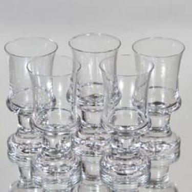 Iittala Tavastia lasit, 8 cl, 5 kpl, suunnittelija Tapio Wirkkala, 8 cl