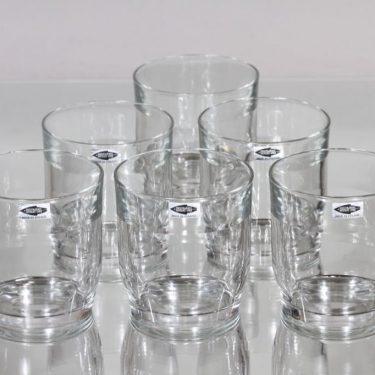 Nuutajärvi Prisma lasit, 30 cl, 4 kpl, suunnittelija Kaj Franck, 30 cl, suuri
