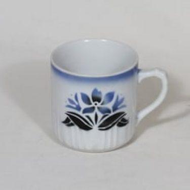 Arabia nimetön koriste muki, sininen, suunnittelija , puhalluskoriste