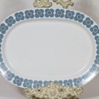 Arabia Veera vati, siniharmaa, suunnittelija Esteri Tomula, serikuva, soikea, retro