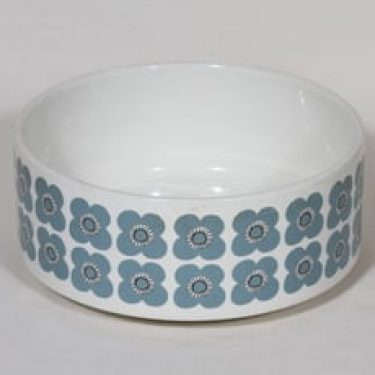 Arabia Veera kulho, siniharmaa, suunnittelija Esteri Tomula, serikuva, retro