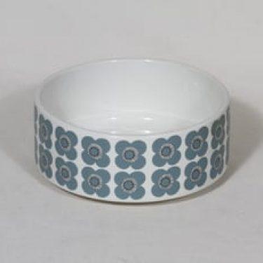 Arabia Veera kulho, siniharmaa, suunnittelija Esteri Tomula, serikuva, pieni, retro