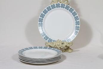 Arabia Veera lautaset, matala, 6 kpl, suunnittelija Esteri Tomula, matala, serikuva, retro