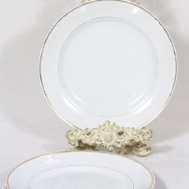 Arabia nimetön koriste lautaset, matala, 3 kpl, suunnittelija , matala, kultakoriste
