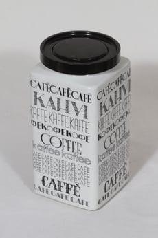 Arabia Kahvi kahvitölkki, monivärinen, suunnittelija Esteri Tomula, suuri, serikuva, tekstikoriste