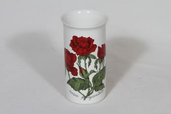 Arabia Rosa maljakko, Rosa polyantha, suunnittelija Esteri Tomula, Rosa polyantha, serikuva, ruusuaihe