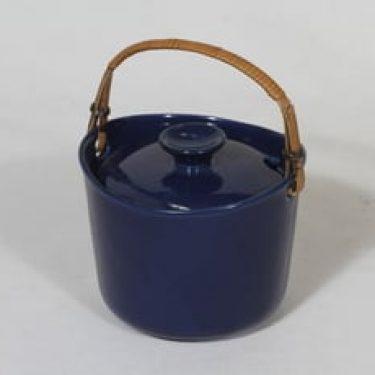 Arabia koristelematon marmelaadirasia, sininen lasite, suunnittelija , pieni