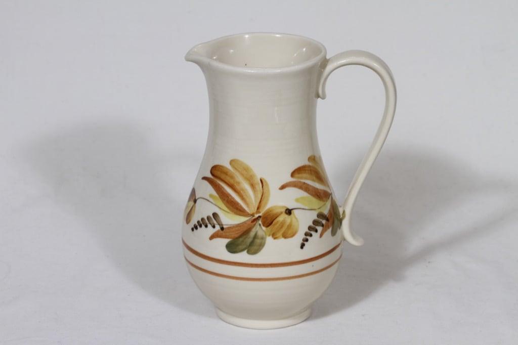 Arabia ARA kaadin, käsinmaalattu, suunnittelija Kurt Ekholm, käsinmaalattu, kukka-aihe