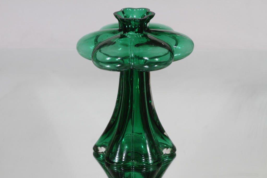 Riihimäen lasi Päivänkukka maljakko, vihreä, suunnittelija Helena Tynell,