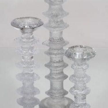 Iittala Festivo kynttilänjalat, eri kokoja, 3 kpl, suunnittelija Timo Sarpaneva, eri kokoja, suuri, signeerattu