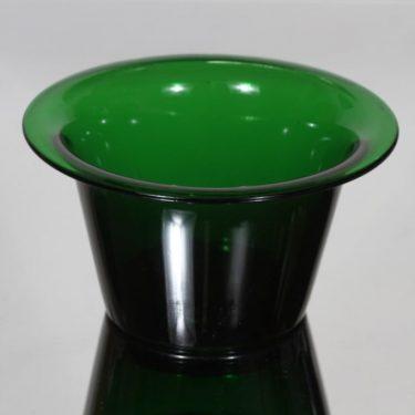 Riihimäen lasi Kartio kulho, vihreä, suunnittelija Nanny Still,