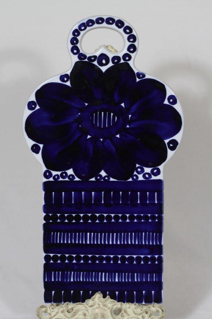 Arabia Valencia talouslevy, käsinmaalattu, suunnittelija Ulla Procope, käsinmaalattu, suuri, signeerattu