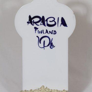 Arabia Valencia talouslevy, käsinmaalattu, suunnittelija Ulla Procope, käsinmaalattu, suuri, signeerattu kuva 2