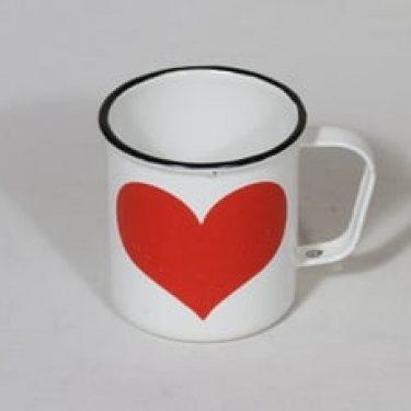 Finel muki, 25 cl, suunnittelija , 25 cl, serikuva, sydänaihe