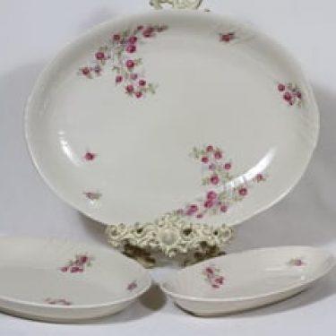 Arabia kukkakuvio vadit, 3 kpl, suunnittelija , soikea, siirtokuva