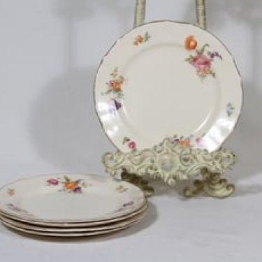 Arabia Kesäkukka lautaset, 5 kpl, suunnittelija , pieni, siirtokuva