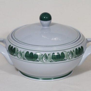 Arabia Green Laurel liemikulho, käsinmaalattu, suunnittelija Olga Osol, käsinmaalattu