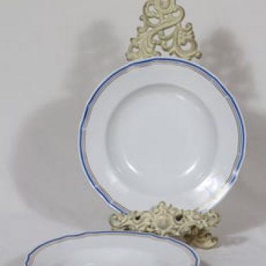 Arabia Lotta lautaset, syvä, 4 kpl, suunnittelija Reinhard Richter, syvä, raitakoriste