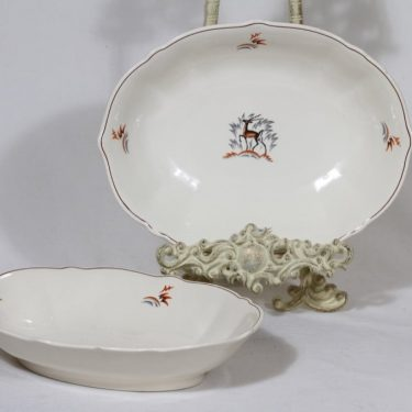 Arabia Kauris bowl, 2 pcs, designer Tyra Lungren, silk screening, art deco