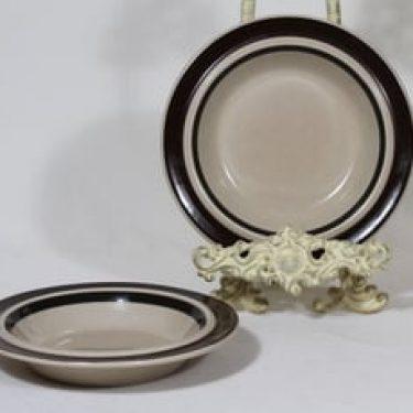 Arabia Ruija lautaset, syvä, 2 kpl, suunnittelija Raija Uosikkinen, syvä