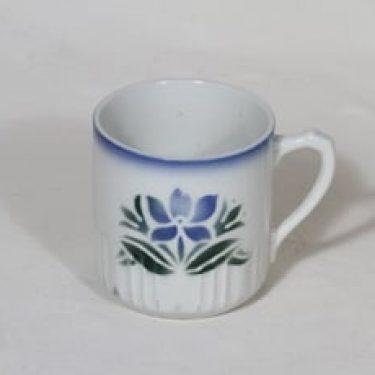 Arabia AE muki, kukka-aihe, suunnittelija , kukka-aihe, puhalluskoriste, kukka-aihe, nimetön kukkakuvio