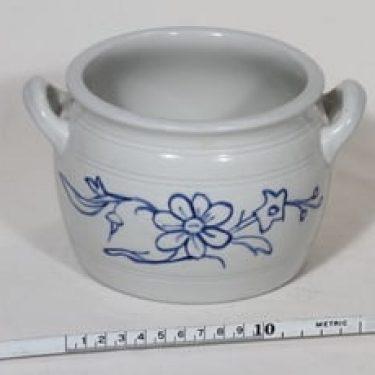 Arabia B 1 ruukku, 1 l, suunnittelija , 1 l, kobolttimaalaus, kukkakuvio