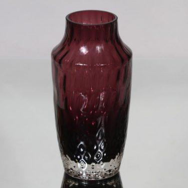 Riihimäen lasi 1433 maljakko, lila, suunnittelija Tamara Aladin,