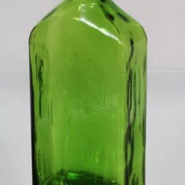 Riihimäen lasi Lankkupullo koristepullo, nurmikonvihreä, suunnittelija Helena Tynell, suuri
