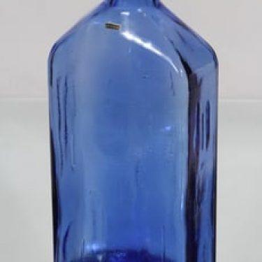 Riihimäen lasi Lankkupullo koristepullo, koboltinsininen, suunnittelija Helena Tynell, suuri