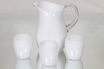 Iittala 2192 kaadin ja lasit, valkoinen, 3 kpl, suunnittelija Maire Gullichsen,