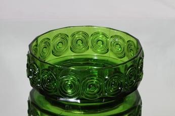 Riihimäen lasi Rengas kulho, vihreä, suunnittelija Tamara Aladin,