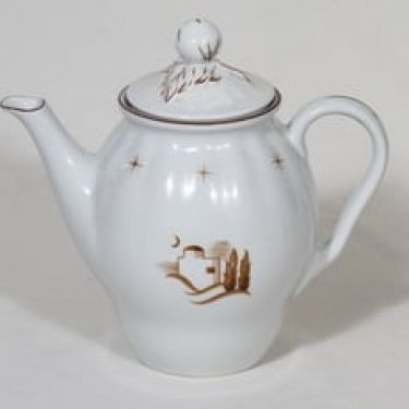 Arabia Orient kahvikaadin, 1 l, suunnittelija Rainer Baer, 1 l, siirtokuva, itämainen aihe