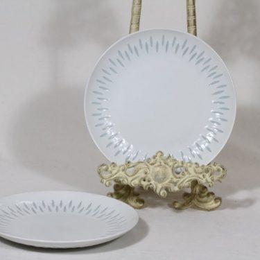 Arabia FK lautaset, riisiposliini, 2 kpl, suunnittelija Friedl Holzer-Kjellberg, riisiposliini, massasigneerattu